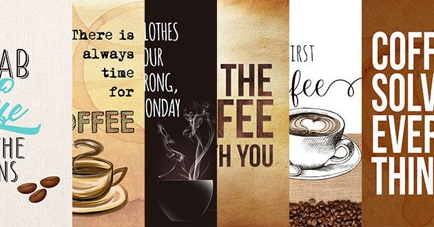 思わずコーヒーが飲みたくなるタグとグリーティングカード
