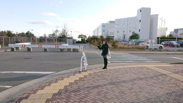 横断歩道とずっと笑ってる人