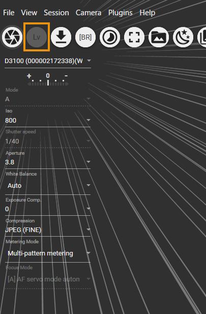 digiCamControlでLVモードがノンアクティブ