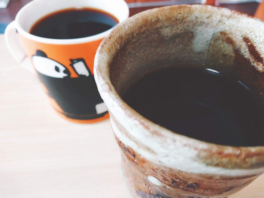 かふぇたかのから仕入れた豆でコーヒータイム