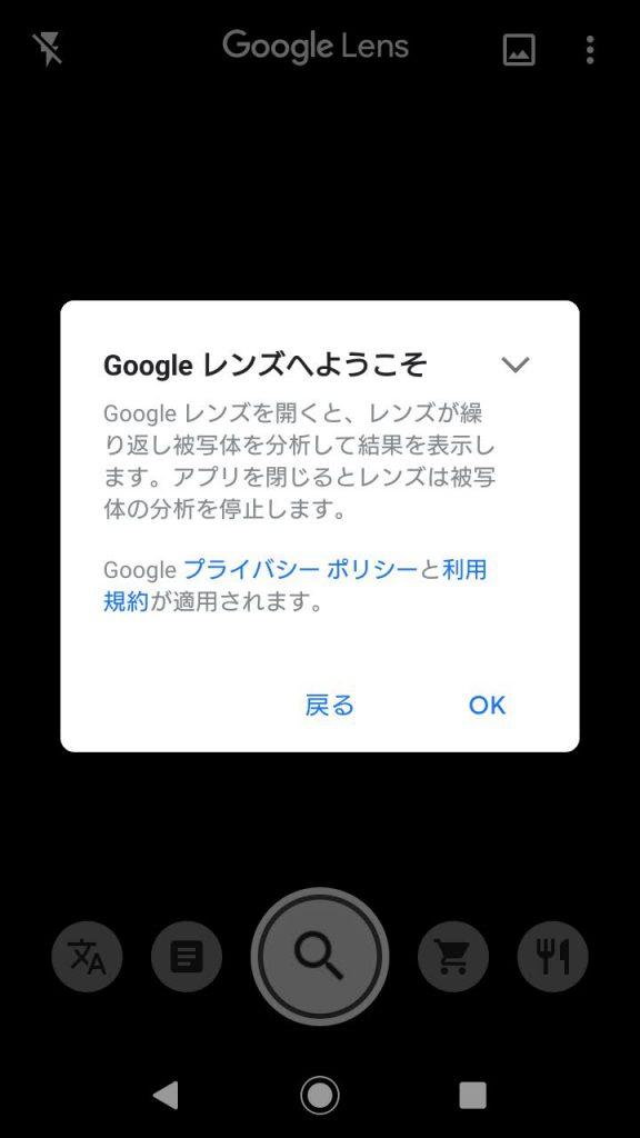 Google Lens初回起動01