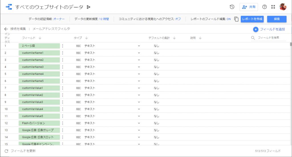 利用するデータソースの種類の選択画面